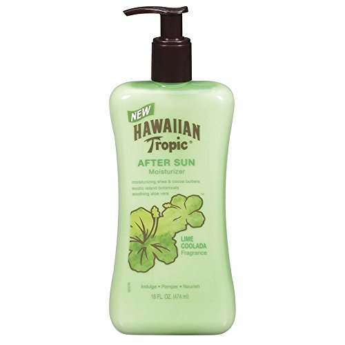 Hawaiian Tropic Lime Coolada Body Lotion and Daily Moisturizer After Sun, 16 Ounce - Pack of 3