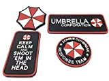 Resident Evil Cosplay PVC Airsoft Velcro Patch SET
