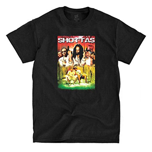LSL Shirts Shottas - Black T-Shirt (X-Large)