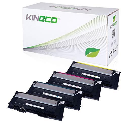 4 Toner kompatibel mit CLP-320 für Samsung CLP-325, CLX-3180, CLX-3185 - Schwarz 2.500 Seiten, Color je 2.000 Seiten