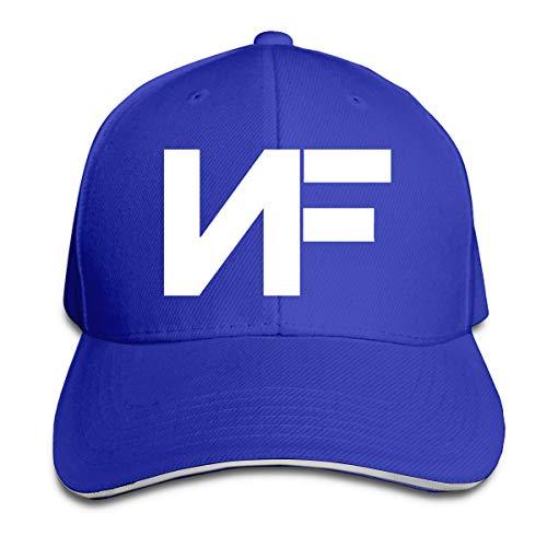 Queen Elena NF Rapper Logo (2), bedruckt, einfarbig, Sandwich-Hut, Frühlingskappe, Sommer-Hut, verstellbar Gr. Einheitsgröße, blau