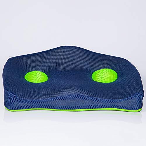 SGGMRR Het ergonomische rugkussen is gemaakt van traagschuim voor comfortabele zithoudingen in het dagelijks leven, zoals decompressie in acne, auto's, kantoren en rolstoelen.