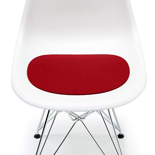 Hey Sign Sitzauflage rot mit Antirutsch für Eames Plastic Side Chair