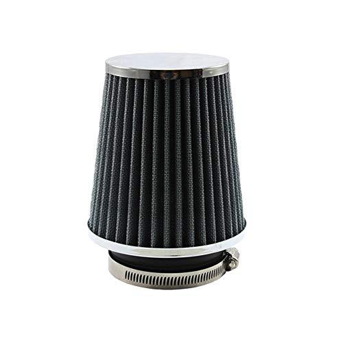 Rumors Universal Car Luftfilter 76mm 3-Zoll-High Flow Auto Cold Air Intake Filter Aluminium Non-Woven-Gewebe Nichtrostender Luftansaugschlauch (Color : Silver)