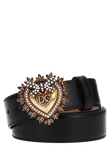 Dolce E Gabbana Cintura Donna Be1315ak86180999 Pelle Nero