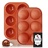 Medium Semi Sphere Silicone Mold, 2 Packs Half Sphere Silicone Baking Molds for Making Chocolate,...