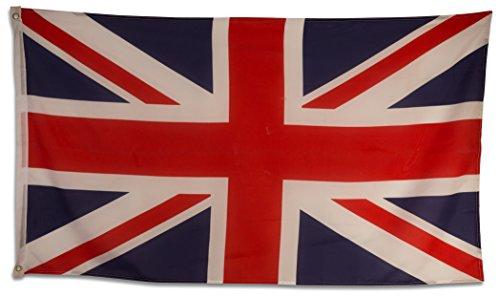 SCAMODA Bundes- und Länderflagge aus wetterfestem Material mit Metallösen (Großbritannien) 150x90cm