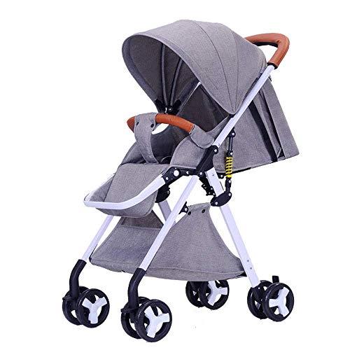 SBDLXY Kompakter Leichter Kinderwagen, Kinderwagen-Buggy, mit einhändiger Falte, 5-Punkt-Sicherheitsgurt, Verstellbarer Rückenlehne, für Flugzeug-Rollstuhl, geeignet von der Geburt bis zum Alter vo