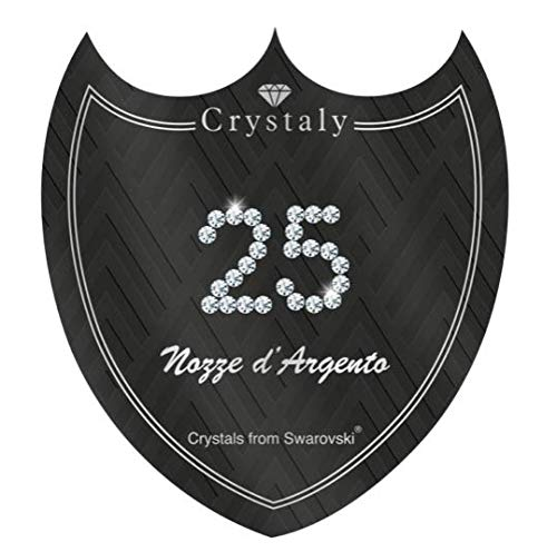 Crystaly – 25 alianzas de plata (CLA25) (Scudo, 85 x 94 mm)