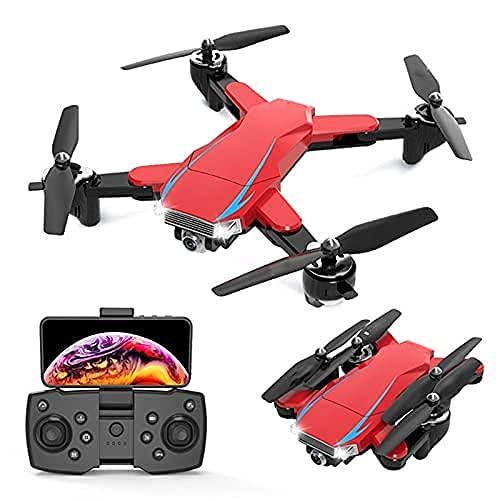 HAOJON Quadcopter Plegable 5G-GPS Dron fácil de Volar con cámara 4K HD Vuelo de trayectoria, Control de Aplicaciones, Flujo óptico, cuadricóptero de retención de altitud Juguete de Regalo fácil de