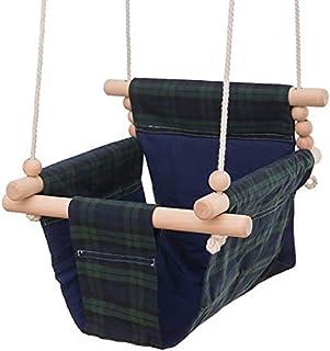 秋千 吊床椅 婴儿座椅 安全帆布 室内外兼用 吊床 悬挂 防掉落 折叠式 新生儿 生日 礼物 游具 幼儿用 0-3岁儿童 点击 格子进行