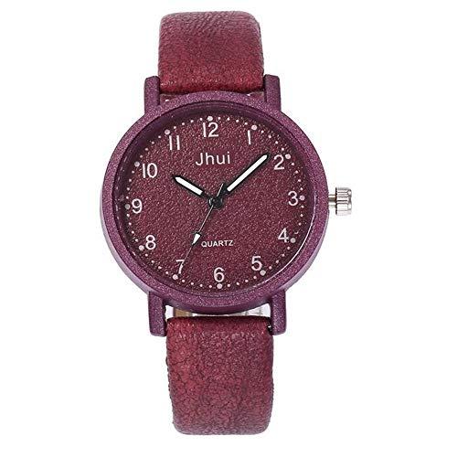 ZSDGY Reloj de Cuero Casual para Mujer, Helado Digital, Reloj de Cuarzo Ajustable con Sabor a Fruta B