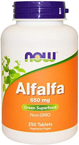 Now Foods Alfalfa, 650mg, 250 Tablets