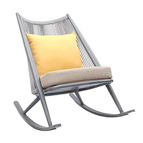 XLSQW Relax Mecedora Tumbona, Marco Chaise Tomar el Sol al Aire Libre Patio Mecedora de imitación...