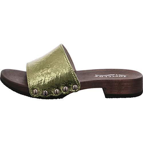 Softclox Damen Pantoletten -39 3418 Bea grün 678543