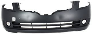 Front Bumper Cover Compatible with 2007-2009 Nissan Altima Primed Sedan