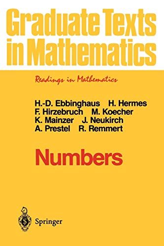 Numbers (Graduate Texts in Mathematics (123))