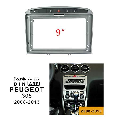 EZoneTronics 60-027 - Marco estéreo para Radio de Coche para Peugeot 308 2008-2013 (Doble DIN, 22,8 cm)