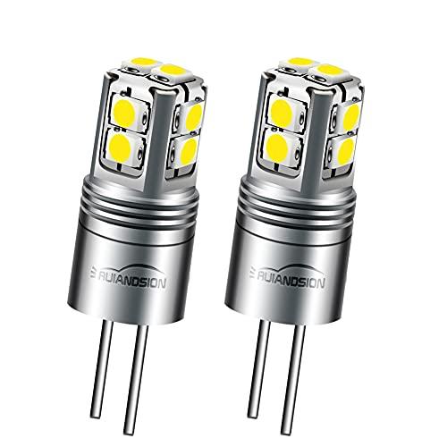 Ruiandsion - Lampadina LED G4, 10 – 40 V, T3 JC, a risparmio energetico, lampadina a LED di ricambio per luci da giardino, paesaggio, camper, colore: bianco (confezione da 2)