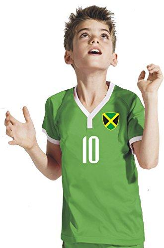 Aprom-Sports Jamaika Kinder Trikot - Hose Stutzen inkl. Druck Wunschname + Nr. BSG WM 2018 (128)