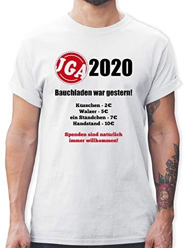 JGA Junggesellenabschied - Bauchladen war gestern! 2020-3XL - Weiß - L190 - Tshirt Herren und Männer T-Shirts