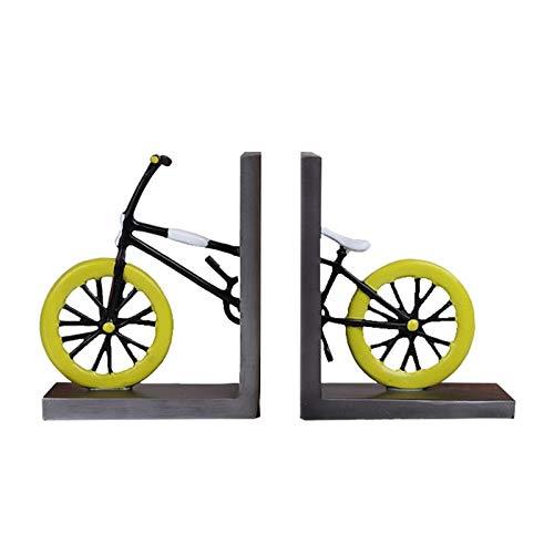 RANRANJJ Sujetalibros 1 par Estilo de la Moda de época Stand kiosco Engrosamiento de Bicicletas sujetalibros School Library Home Office Estudio sujetalibros Regalo