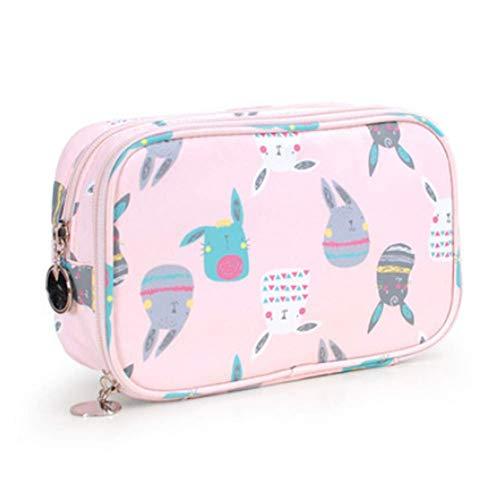 Maquillage cosmétique Organisateur double couche imperméable Sac à cosmétiques Cute Girl Wash sac de rangement multifonctionnel portable