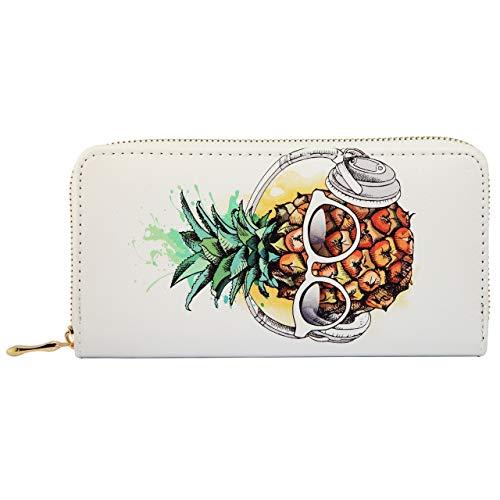 SG dames portemonnee XL met ananas print portemonnee lange beurs portefeuille beurs
