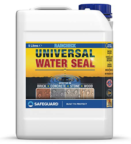 Raincheck Universal Water Seal (5 Litre) Breathable, Colourless Waterseal for Brick, Wood and Stone