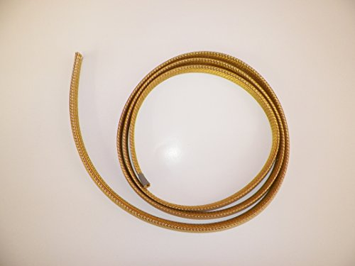 "1/2"" BRAIDED BRASS EXPANDABLE FLEX SLEEVE, WIRING HARNESS, LOOM, FLEXABLE WIRE COVER (25 Feet)"