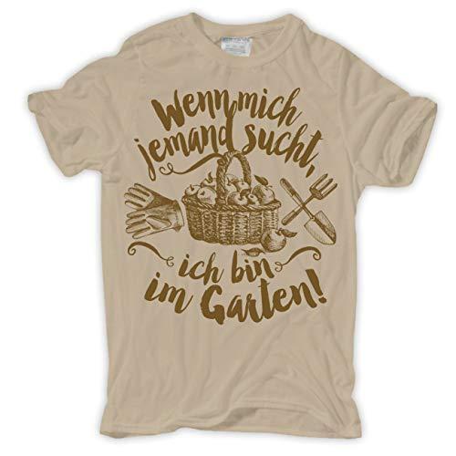 Männer und Herren T-Shirt Wenn Mich jemand sucht ICH Bin IM Garten Größe S - 5XL