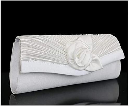 Women's Evening Handbags Classic Flower Evening Bag, Fashion Evening Party Bag, Suitable for Fashion, Banquet (Color : White)