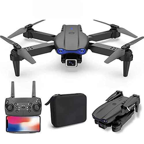 J-Clock Drone con Doppia Fotocamera 4K HD GPS WiFi FPV Droni Pieghevoli One Key Return RC Quadrocopter Trasmissione Immagini in Tempo Reale Gesto Fotografia Traiettoria Volo