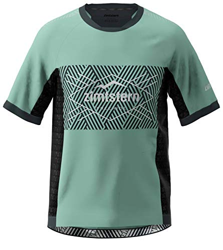 Zimtstern Herren TechZonez Shirt SS MTB, Granite Green/Pirate Black/Glacier Grey, XXL
