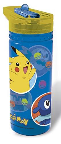 ALMACENESADAN 0432, Pokemon Big Tritan Flasche; Kapazität 580 ml; Kunststoffprodukt; Kein BPA