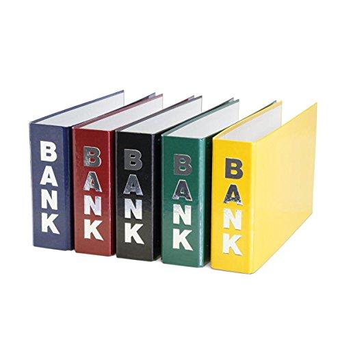 5 Bankordner / 140x250mm / für Kontoauszüge / je 1x gelb rot grün blau schwarz