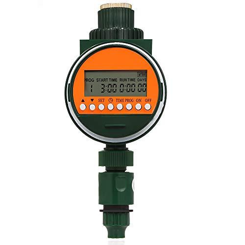 Programador de riego, reloj de riego electrónico, temporizador automático, tiempo de riego con sensor de lluvia, grifo de 3/4' y 1/2'