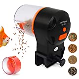 UPETTOOLS Fish Feeder, Aquarium Tank Automatic Timer Feeder with 2 Fish Food Dispensers Long Standby