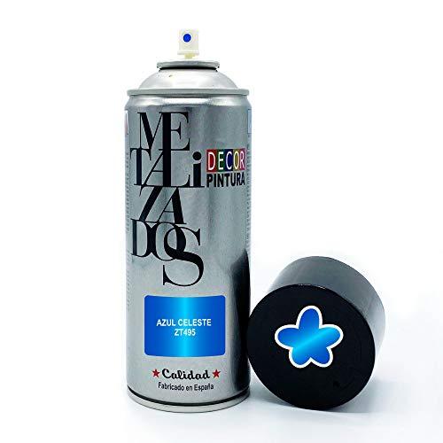 Vernice spray Metallizzata   Vernice Spray Metallizzata Celeste   400 ml   Bomboletta Spray per legno, alluminio, ferro, ceramica, plastica Vernice bomboletta spray metallizzata bici, cerchi graffiti