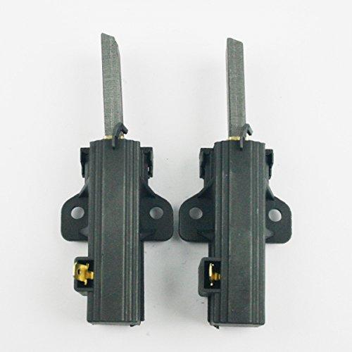 1 Paar Kohlebürsten Kohlestifte Motorkohlen für AEG Quelle Zanussi Hanseatic Waschmaschine mit Sole Motor (seitlicher Anschluss) 124309801 ACC