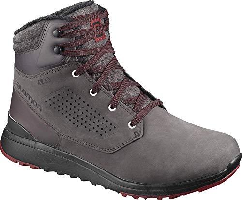 Salomon Men's Utility CSWP Winter Snow Boots, SHALE/Black/Syrah, 10.5