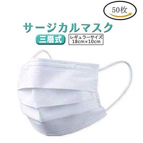 マスク PM2.5対応 不織布マスク 3層構造 ウイルス対策 花粉99%カット 飛沫防止 防護マスク 50枚入