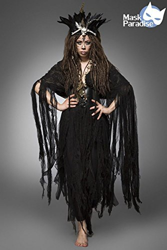 Mask Paradise Hexenkostm: Voodoo Witch, Color Negro, XS-XL (80106-002-001)