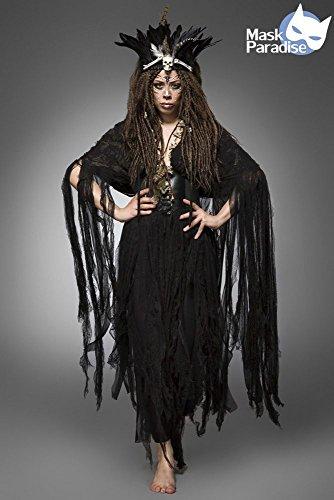 Mask Paradise XS-L Hexenkostm: Voodoo Witch, schwarz