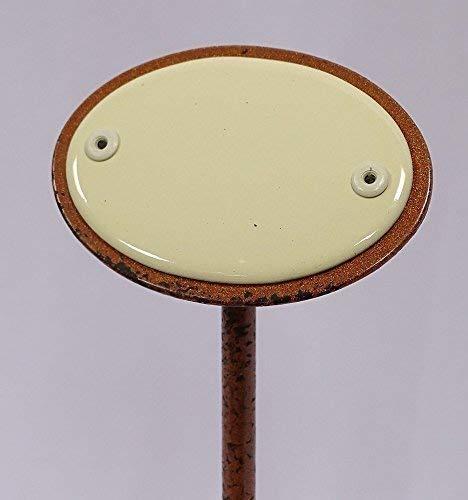 linoows G1846: Kräuterschild Kräuterstecker Emaille, Unbeschriftet, Erdspieß 25 cm