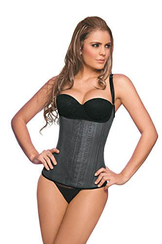 Ann Chery 2028 Semi-Vest Latex Waist Trainer Cincher Corset Girdle (32) Black