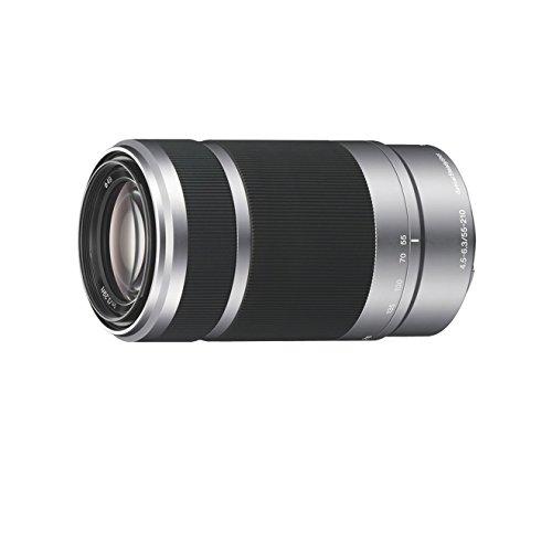 Sony SEL55210 - Objetivo para Sony (distancia focal 82.5-315mm, apertura f/4.5-32, zoom óptico 3.8x,estabilizador óptico, diámetro: 63.8mm) color negro y plata
