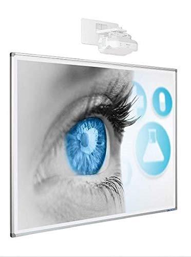 "Smit Visual 89"" x 120cm 16:10 pizarra 192cm esmalte blanco mate softline..."
