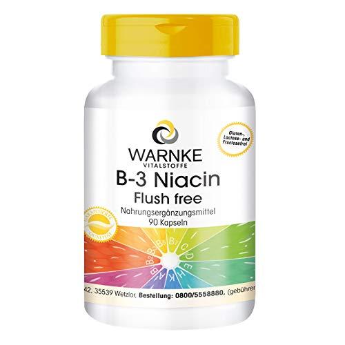 B3 Niacin Flush Free - hochdosiert - 400mg Niacin - Ohne Flush - 90 Kapseln - vegan