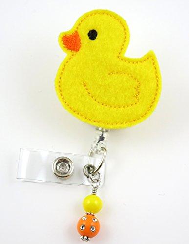 Yellow Duck - Nurse Badge Reel - Retractable ID Badge Holder - Nurse Badge - Badge Clip - Badge Reels - Pediatric - RN - Name Badge Holder